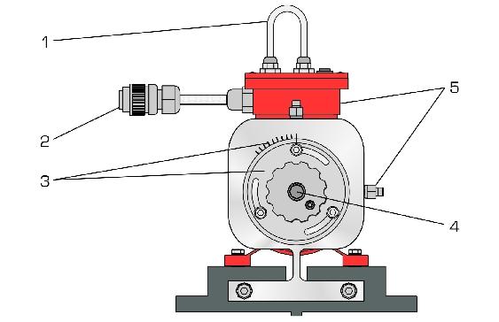 使用计算机振动分析仪 每相电流的测量 供货范围 1电动机带接线盒 1
